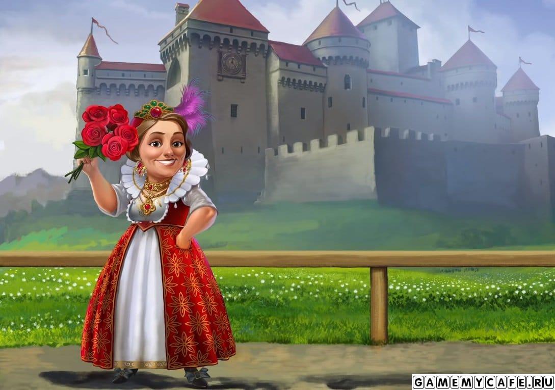 В обновлении 2020.7 Рыцарский турнир в кофейню приезжает Шарлотта Риддл. Она появляется сначала на заставке экрана загрузки игры, а потом уже приезжает на машине в кафе. Напомню, что Шарлотта это библиотекарь и очень любит детективные истории, а также она владелица настоящего средневекового замка. Шарлотта планирует организовать бал в этом замке, а мы ей поможем в организации.