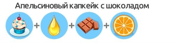 Апельсиновый капкейк с шоколадом