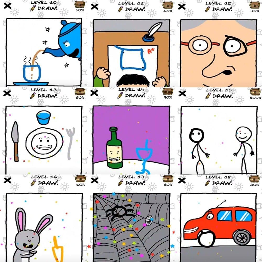 Just Draw Прохождение на 10, 11, 12, 13, 14, 15, 16, 17, 18 уровень